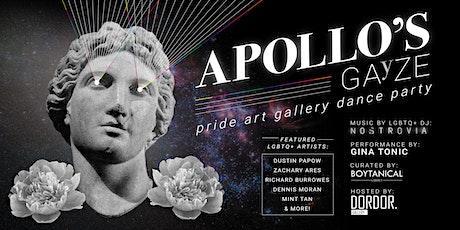 Apollo's Gayze Pride Art Dance Party tickets
