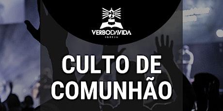CULTO de COMUNHÃO - 13/06/2021 - 18:00H ingressos