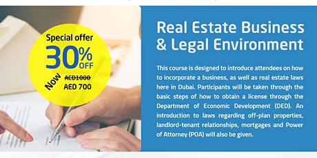 Real Estate Business and Legal Environment tickets