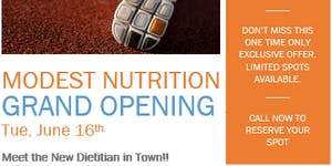 Grand Opening - 20 minute Nutrition Counselling for $30