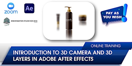 Introduction to 3D Camera and 3D Layers in Adobe After Effects tickets