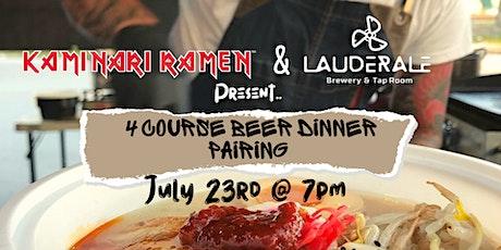 Kaminari Ramen 4 Course Beer Dinner Pairing tickets
