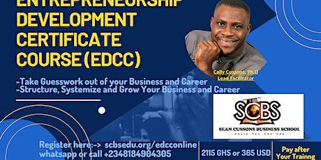 Entrepreneurship Development Certificate Course Online tickets