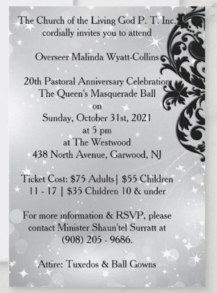 Overseer Malinda Wyatt-Collins 20th  Pastoral Anniversary  Banquet image
