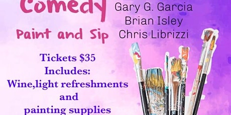 Comedy, Paint and Sip tickets