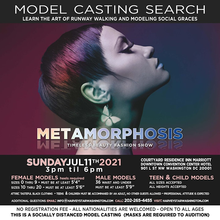 METAMORPHOSIS  MODEL CASTING SEARCH SUNDAY JULY 11TH 2021. image