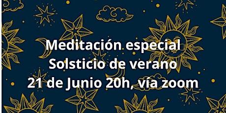 Meditación especial Solsticio de verano entradas