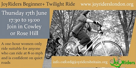Twilight Ride (Beginner+): Cowley and Rose Hill to Sandford Lock round trip tickets
