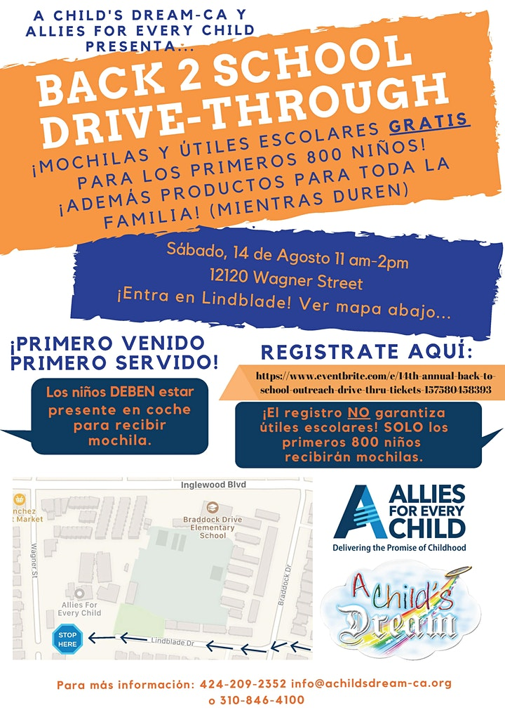 14th ANNUAL BACK TO SCHOOL OUTREACH – DRIVE THRU 2021 image