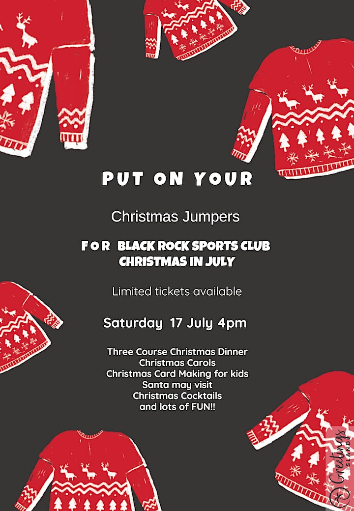 Christmas in July at Black Rock Sports Club image