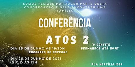 Conferência Agape bilhetes