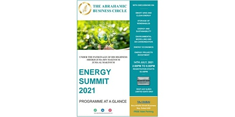 THE ABRAHAMIC BUSINESS CIRCLE- ENERGY SUMMIT 2021 Tickets