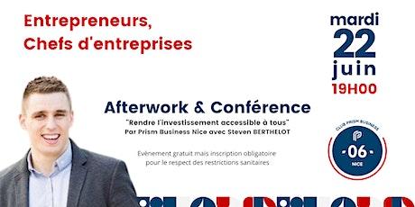 Afterwork & Conférence Rendre l'investissement accessible à tous. tickets