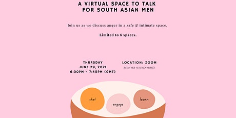 Monthly Virtual Space To Talk For South Asian Men tickets