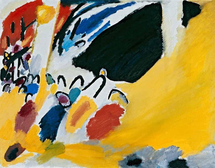 Abstract Painting Class,  Concert by Kandinsky, Learning from the Masters image