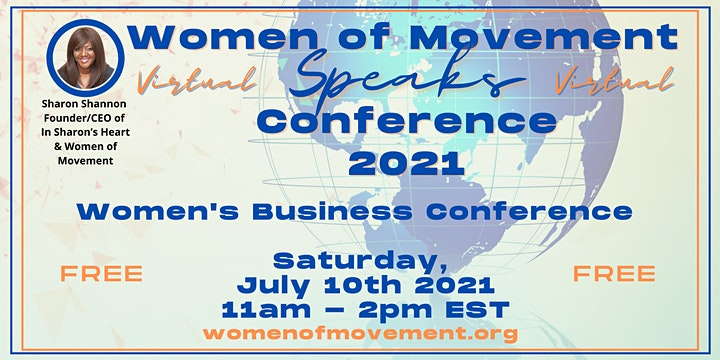 Virtual  Women of Movement Speaks July Business Conference image
