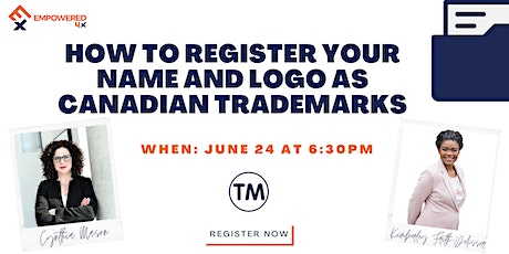 How to Register your Name and Logo as Canadian Trademarks tickets