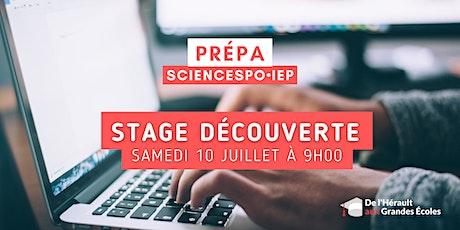 Stage découverte  Sciences Po IEP 2021-2022 billets