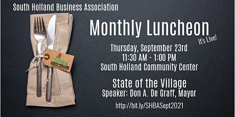 SHBA Monthly Luncheon tickets