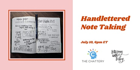 Handlettered Note Taking - IN-PERSON CLASS tickets