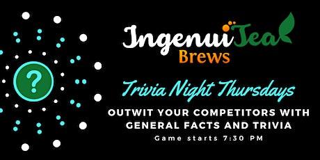 Trivia Night at IngenuiTea! tickets