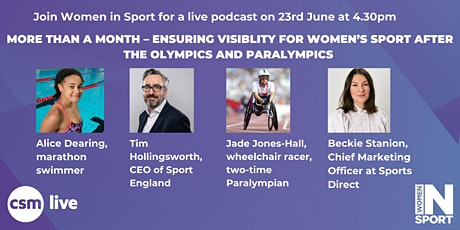 Live podcast - Ensuring visibility for women's sport after the summer games tickets
