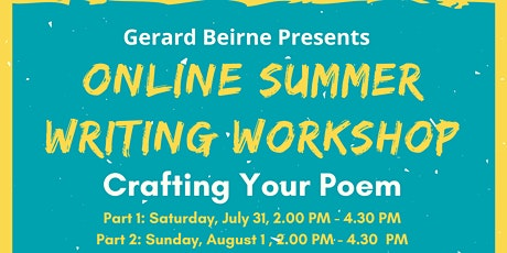 Summer Writing Weekend - Crafting the Poem tickets