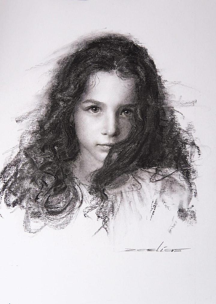 Imagen de Demo Dibujo Retrato Impresionista -Elías Flores  Castillo - Artista peruano