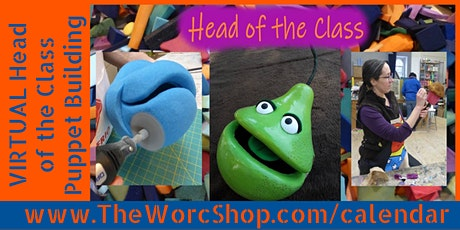 VIRTUAL: Head of the Class (Carved Foam Puppet Head) 5 Days - August 2021 tickets