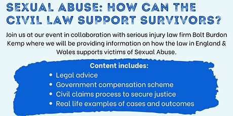 Sexual Abuse: How Can The Civil Law Support Survivors? tickets