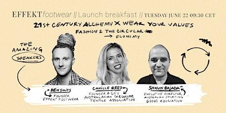 Webinar Breakfast - EFFEKT Footwear kickstarter launch tickets