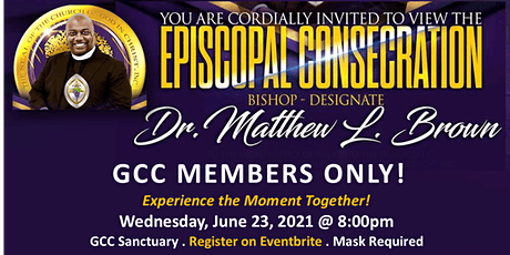 Virtual Viewing - Consecration Service  of Pastor Brown tickets