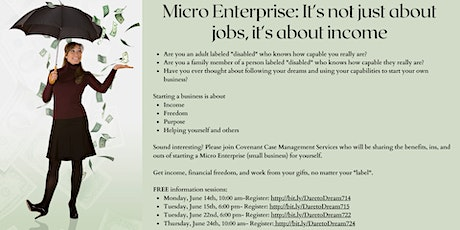 Dare to Dream Microenterprises & Supported Employment tickets
