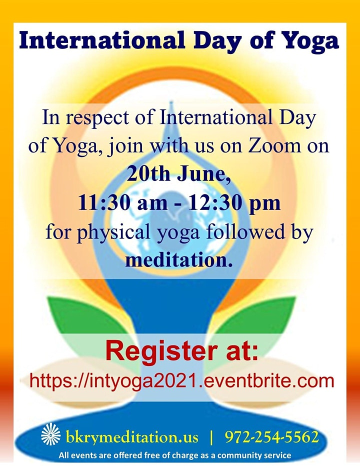 Special Event: International Day of Yoga image