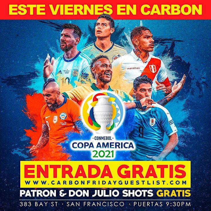 Viernes de Copa America @ Carbon Lounge  - Free guest list image