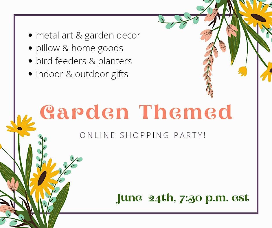 Online Garden Party Zoom id 448 841 6010