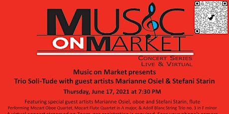 Music on Market presents Trio Soli-Tude with guest artists ingressos