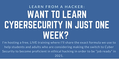 Ethical Hacking 101 - ONE WEEK TO EXCELLENCE!! tickets
