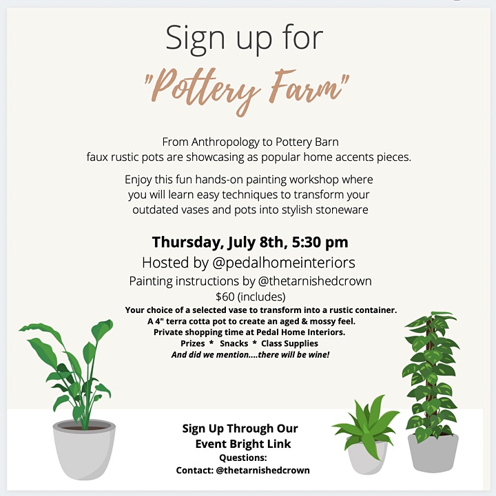 Pottery Farm - Class & Shopping Event image