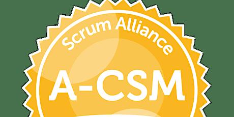 Advanced Certified ScrumMaster® boletos