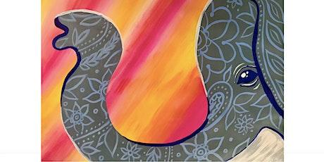 Kids Paint-Along Class: Sunset Elephant tickets