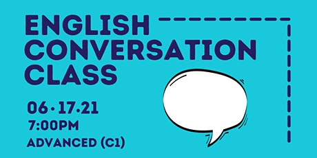 ONLINE Let's talk in English - ADVANCED (C1) Conversation Class tickets