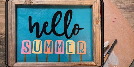 Coffee & Canvas Hello Summer tickets