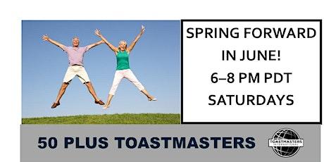 50 Plus Toastmasters Meeting tickets