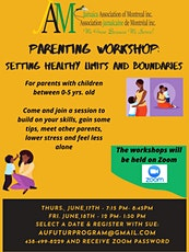 Parenting workshop- Setting healthy limits and boundaries tickets