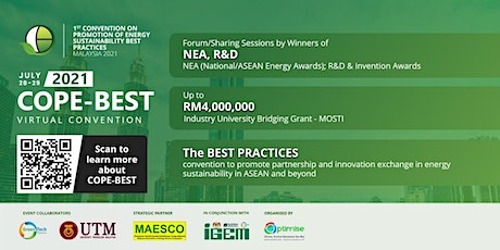 COPE-BEST 2021 - Convention on Energy Sustainability Best Practices tickets