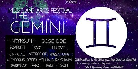 The Gemini Music & Art Festival tickets