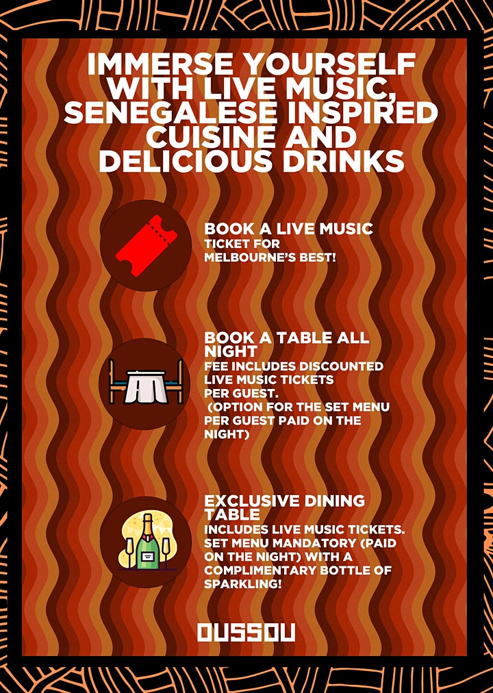 Amadou Suso  & Friends-  Live Music +  Dining Experience image