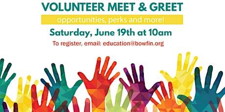 Volunteer Meet & Greet tickets