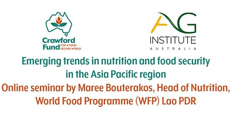 Emerging trends in nutrition and food security in the Asia Pacific region tickets